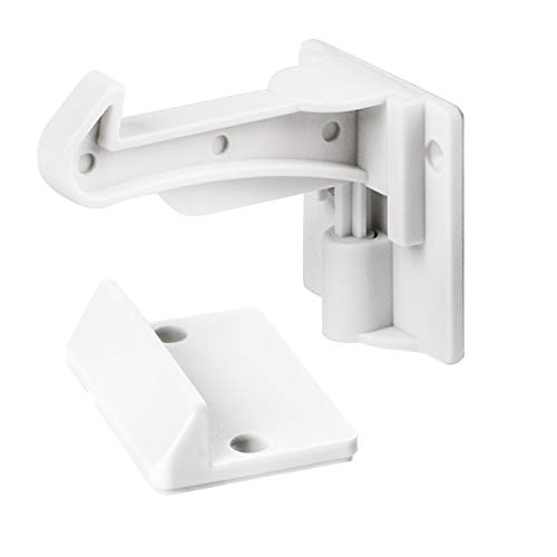 Cabinet Locks Child Safety - Cabinet Latches/Locks, Baby Proofing Cabinet System, Prevents Toddler Injuries and Provides a Slick Invisible Look !! (10 Pack – White)