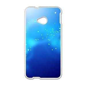 HTC One M7 Cell Phone Case White Blue stars C1H9E