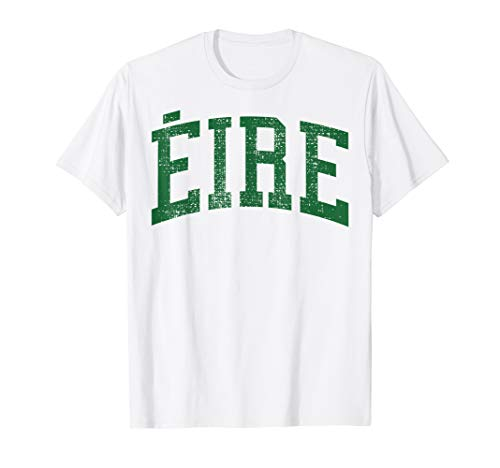 EIRE Vintage T-Shirt Green Ireland Irish St Patricks Day Tee