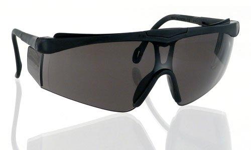 Jackson Safety Cudas Safety Glasses (14467), Adjustable Black Frame, Smoke Lens, 12 Pairs / Case