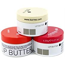 Korres Lip Saver:Guava + Mango + Pomegranate Lip Butter - 3pcs