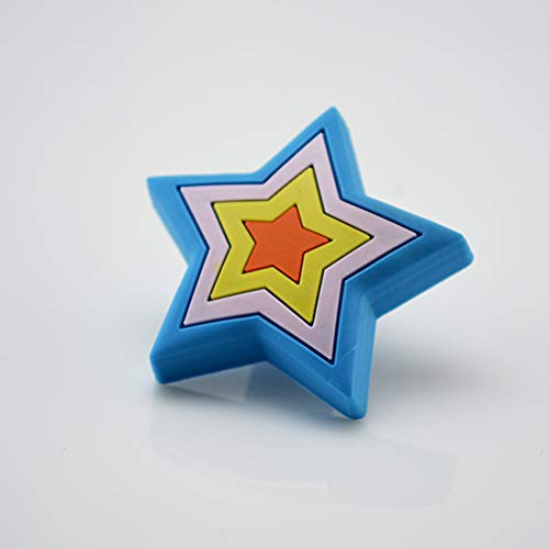 Value-5-Star - 48mm Cute Blue Star Kids Drawer Dresser Pull Handle Knobs Cartoon Decorative Knobs for Children room Furniture