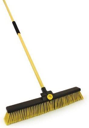 24 Bulldozer Stiff Heavy Duty Yard Brush Large Outdoor Stable Sweeping Broom Builders Brush Amazon Co Uk Diy Tools