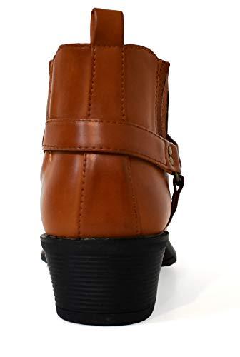 Bottes Peau Cowboy Homme Cheville Pour Classique xFaqPq