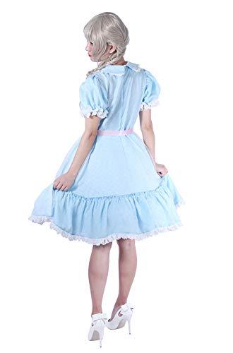 Women's Sweet Lolita Dress Blue Cotton Bow Puff Skirts Halloween Costumes by Nuoqi (Image #1)