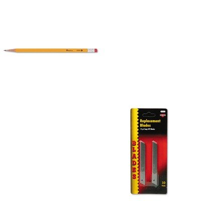 Quickpoint Snap Off Straight Handle (KITCOS091473UNV55400 - Value Kit - Cosco QuickPoint Snap-Off Straight Handle Retractable Knife Replacement Blade (COS091473) and Universal Economy Woodcase Pencil (UNV55400))