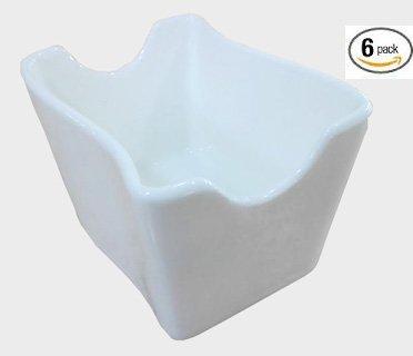 White Sugar Packet Holder (6 Pack White Porcelain Sugar Packet Holder (3.5