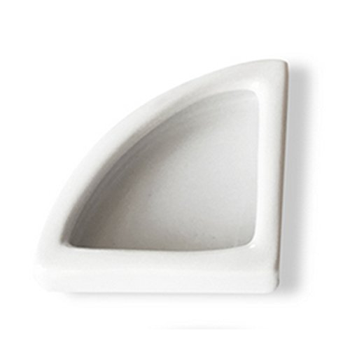 31ZCbfoo1HL - Reptile Food Dish, Petforu Right Angle Shaped Worm Dish Pet Food & Water Bowl Ceramic (White M)