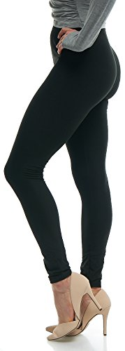 Set Heart Lounge (Lush Moda Black Buttery Soft Leggings - Variety of Colors - Black, One Size)