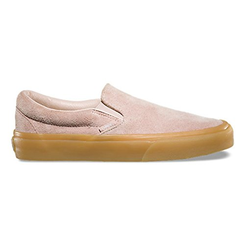 Zapatillas De Deporte Vans Classic Slip On Womesn 8.5 / Hombres 7 Fuzzy Suede Sepia Rose