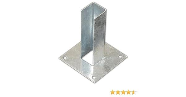 Placa de suelo, para atornillar 60 x 60 mm – Para postes doble ...