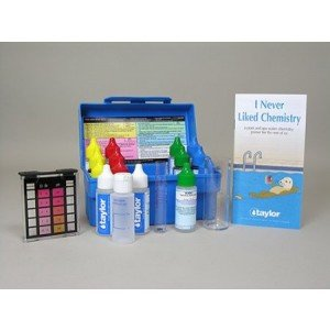 Taylor Technologies K-1005 Pool Test Kit, Residential Trouble-Shooter Pool & Spa Alkalinty/Bromine & - Spa Test Kit Taylor