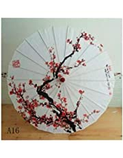 Silk Lady Umbrella Japanese Cherry Blossom Silk Ancient Dance Umbrella Decoration Umbrella Chinese Wind Oil Paper Umbrella Chinese Classical Wind Stage Dance Photography (Color : A16)