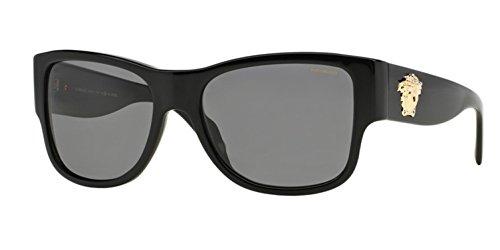 Versace Women's VE4275 Black/Polarized Grey ()
