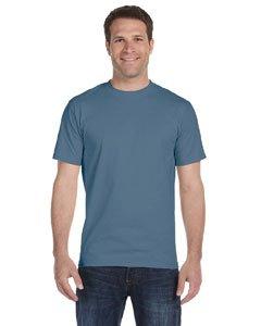 Hanes Mens TAGLESS ComfortSoftCrewneck T-Shirt,Denim Blue,Small