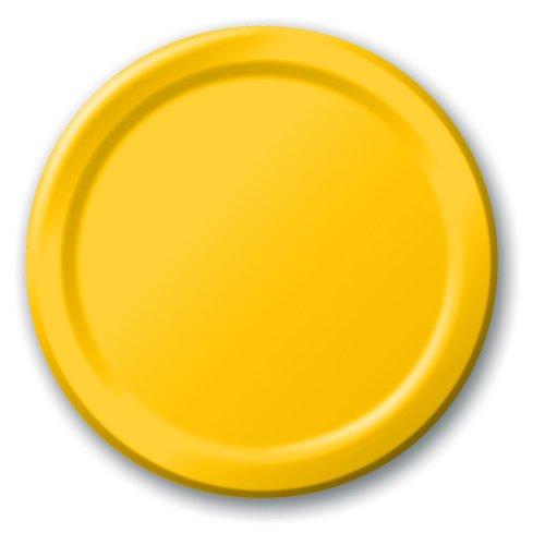 Creative Converting Touch of Color 24 Count Paper Lunch Plates, School Bus (Balloons Dessert Plate)