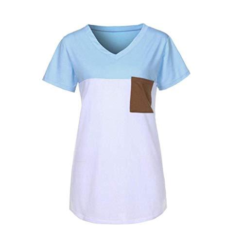 Jeune V Gelb Basic Avant Tshirts Top Vetement Couleurs Casual Femme Poches Mlanges Manches Haut Shirts 1 Mode Blusen Et T Cou Elgante Mode Chemise Branch Courtes 0OSHFnvpq