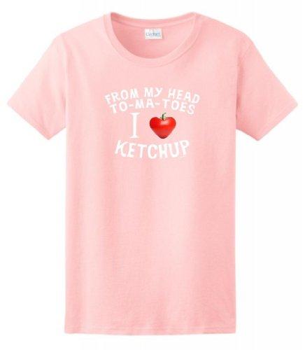 Head Tomatoes Ketchup Ladies T Shirt