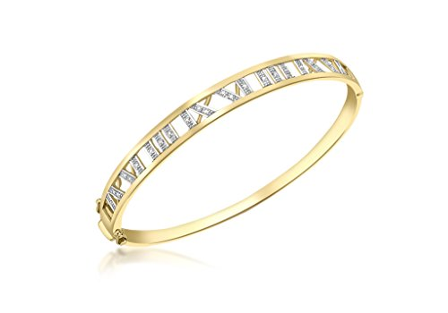 Jewellery World Bague en or jaune 9carats Diamant chiffres romains bracelet