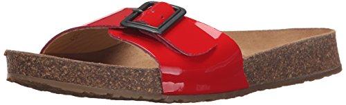 Haflinger Women's Tr Gina Red Patent Flat Sandal Red