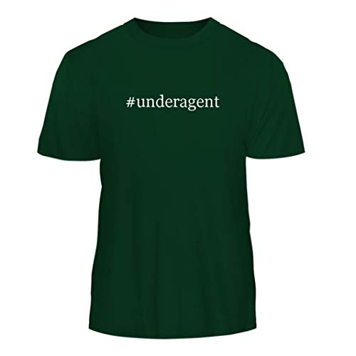 Tracy Gifts #Underagent - Hashtag Nice Men's Short Sleeve T-Shirt, Forest, Large