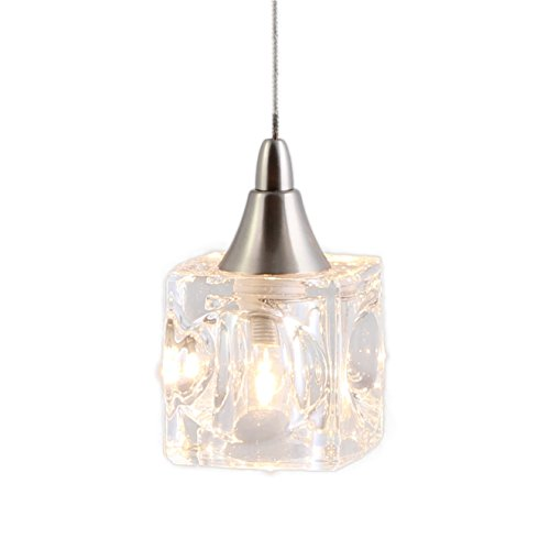 Direct-Lighting DPNL-35-6-CLEAR Mini Low Voltage Pendant Light, Cube, Clear Glass