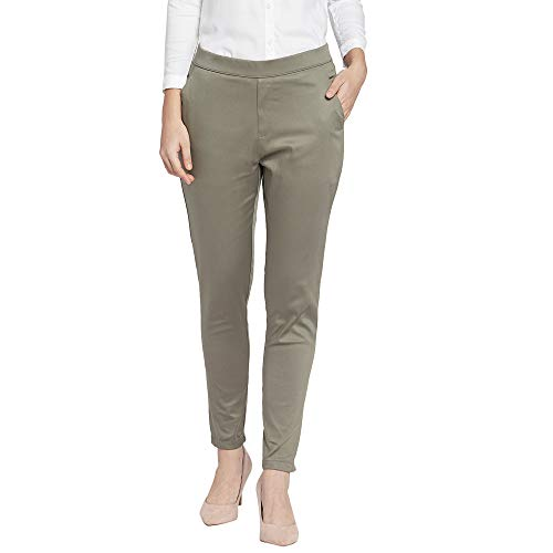 GO COLORS Women's Tapered Fit Slim Pants