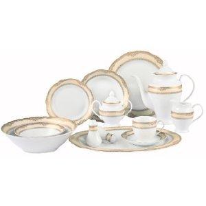 Isabella 57 Piece Dinnerware Set  sc 1 st  Amazon.com & Amazon.com | Isabella 57 Piece Dinnerware Set: Lorren Dinner ...