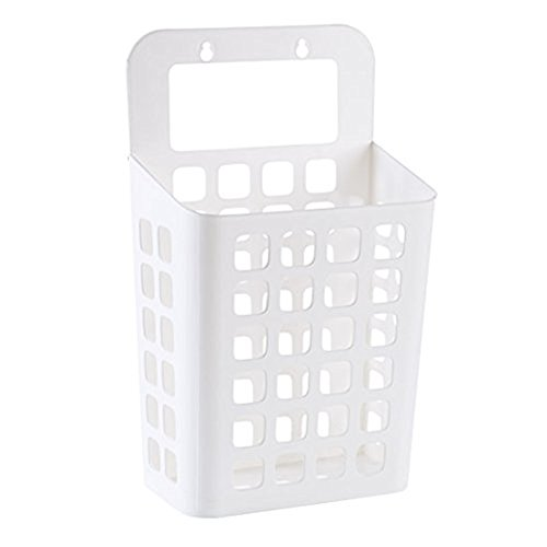 Little Less Sucker hanging dirty clothes basket Dirty clothing storage basket plastic storage basket large dirty clothes basket laundry Hamper White by Little Less