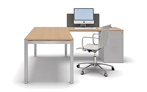 Arbeitszimmer Büro 2 Office Line Schreibtisch Regal Container Sonoma Eiche weiß
