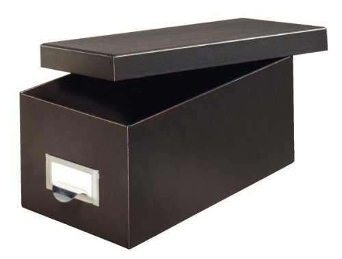 Globe-Weis Fiberboard Index Card Storage Box, 4 x 6 Inches, Solid Black (4X6BLA) by Globe Weis