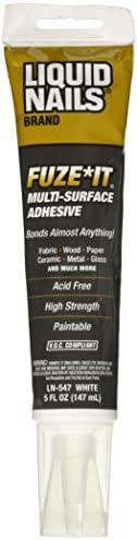 Liquid Nails LN-547 FuzeIt Multi-Purpose Repair Adhesive (5-Ounce)
