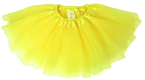 [Dancina Tutu Infant Cute Classic Ballerina Gender Reveal Photo Shoot Prop Costume 0-5 months Yellow] (Angel Food Cake Costume)