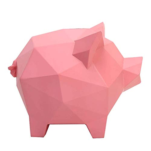 Qkefegfkgr Eco-Friendly Resin Inserts for Decorating Piggy Bank, Interesting Ornaments, Geometric sectional Shapes, Creative Large Money Box, Personalized Piggy Bank (Color : -, Size : -)