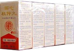Tienchi Ginseng & Eucommiae Combinaison (Tian Qi Zhong Du Wan) 100 pilules X 5