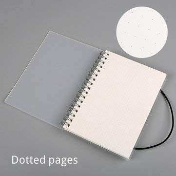 A6 Spiral Coil Notebook To-Do Lined Dotted Blank Grid Paper Journal Diary Sketchbook School Supplies - Stationery Supplies Paper & Notebooks - (Dotted pages) ()