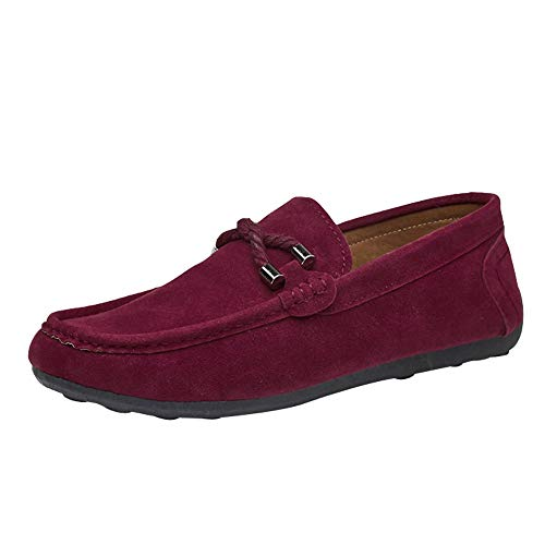 - Casual Flat Shoes for Men, Huazi2 Slip on Loafer Suede Beanie Driving Shoes Single Shoes