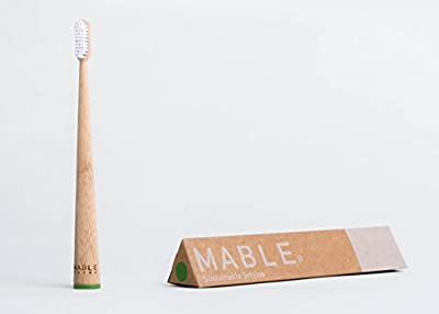 MABLE Bamboo Toothbrush, Self-Standing, Non-Toxic Soft Bristles
