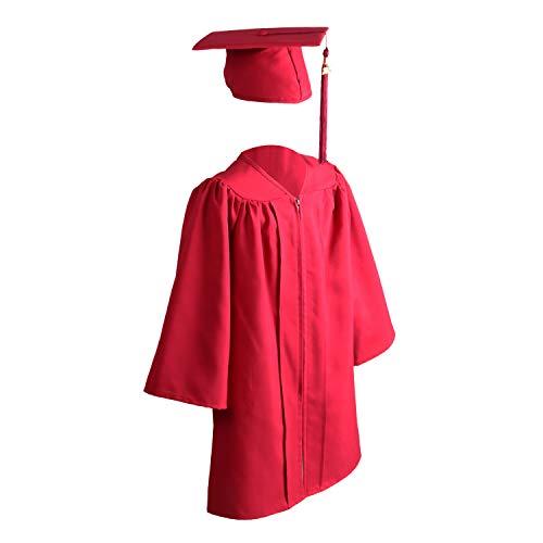 (OSBO GradSeason Unisex Matte Kindergarten Graduation Gown Cap Tassel Set (Maroon, 33