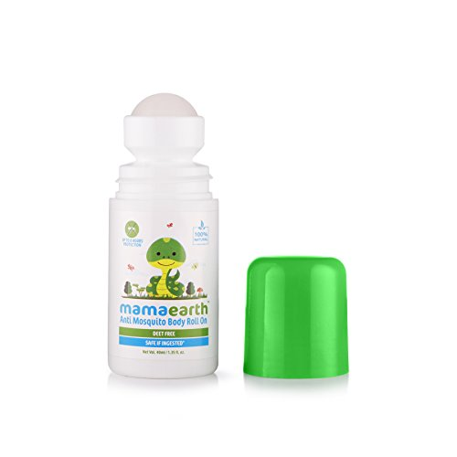 Mamaearth Natural Anti Mosquito Body Roll On 40ml. DEET Free. Protects from Dengue, Malaria & Chikungunya. (Pack of 2)