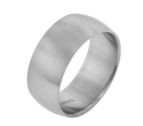10 Mm Ring Satin - 10mm Wide Mens Titanium Brushed Satin Wedding Band Ring Size 9(Sizes 8,9,10,11,12,13)