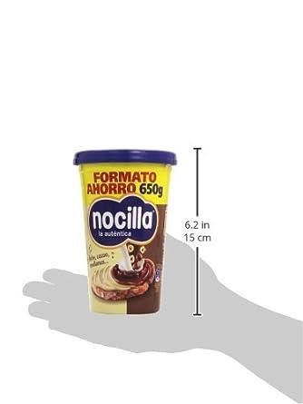 Nocilla - La autentica - Doble crema al cacao y leche con avellanas - 650 g: Amazon.es: Alimentación y bebidas