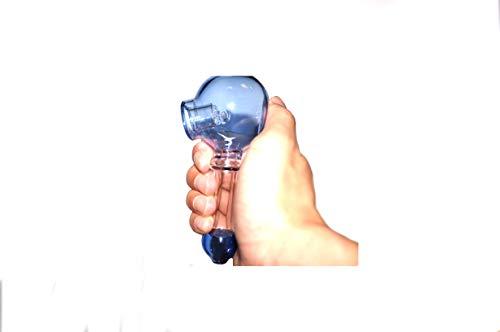 SMKPIP Handmade Glass 4.7 Inch Long,New Style Tube Sky Touch Bub(Blue) by SMKPIP