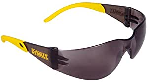 Dewalt DPG54-2C Protector Smoke High Performance Lightweight Protective Safety Glasses with Wraparound Frame
