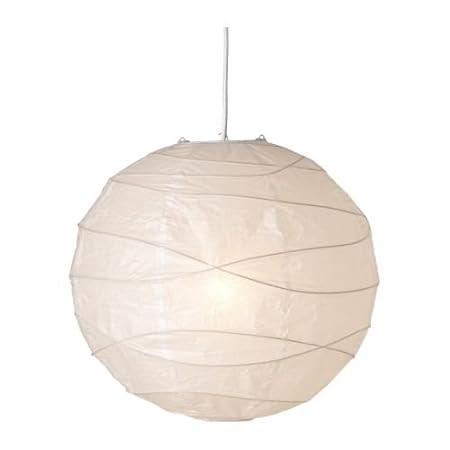Ikea Regolit Hängeleuchtenschirm Weiß Papier White 45 X 45 X 45