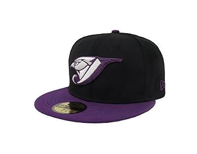 New Era 59Fifty Hat Toronto Blue Jays MLB Basic Game Bird Fitted Black/Purple Cap