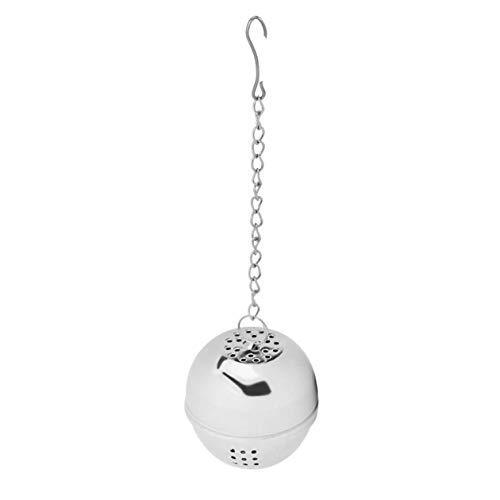 (1pcs Spice Egg Shaped Silver Stainless Steel Seasoning Ball teakettles Strainer Tea Filter Locking)