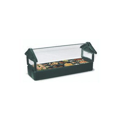 Carlisle Six Star 660103 Polyethylene Tabletop Food Bar, 6 ft. Long, Black by Carlisle