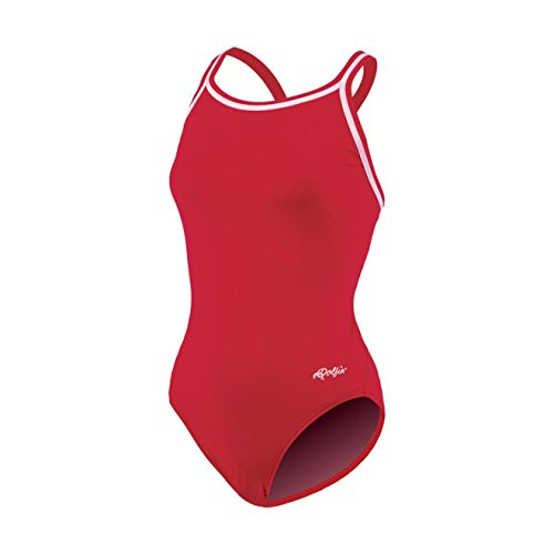 Dolfin Chloroban Team Solid Suit Womens - Red 34