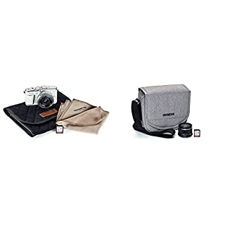 Olympus Pen E-PL10 White Camera Body with Silver M.Zuiko Digital 14-42mm F3.5-5.6 EZ Lens, Camera Case, Lens Cloth & SD Card with Step Up Kit